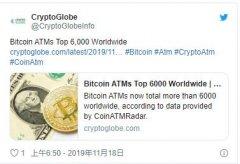 数据显示,美国控制着全球66.2%的比特币ATM