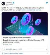 体育博彩巨头(Luckbox)接受BTC,Ether,XRP和Litecoin的存款