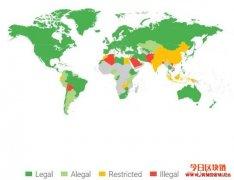 比特币在哪些国家合法?一张地图告诉你