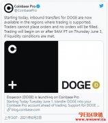 狗狗币终于上架Coinbase Pro!激励DOGE币价飙升10%