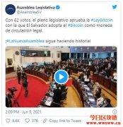 萨尔瓦多国会通过比特币法案,企业